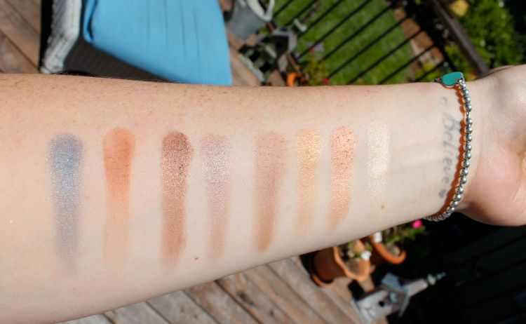 Swatches Left to Right: Blueberry Swirl, Peanut Butter, Frosting, Rum Raisin, Mousse, Caramel, Bon Bon, Butter Pecan
