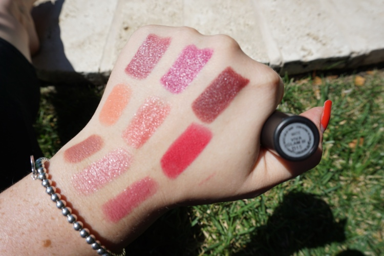 (L to R, Top to Bottom): Velvet Teddy, Angel, Syrup, Razzle-Dazzler, Call the Hairdresser, All Fired Up, Amorous, Rebel, Viva Glam III