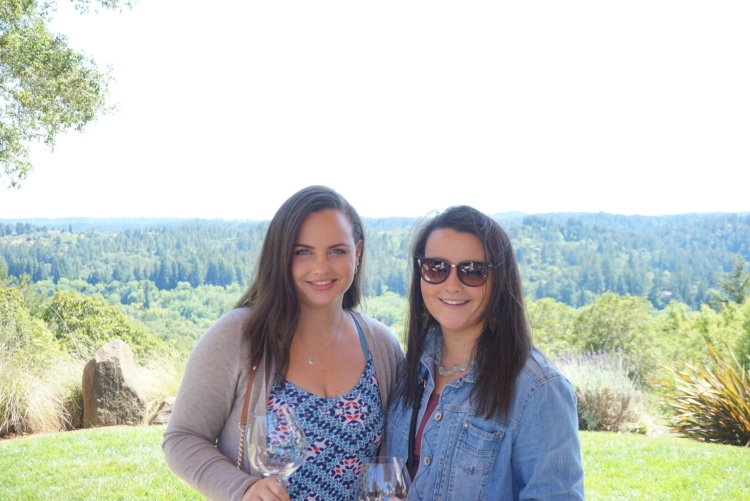 My Sister, Izzy (on right), and I at Gary Farrel Winery.