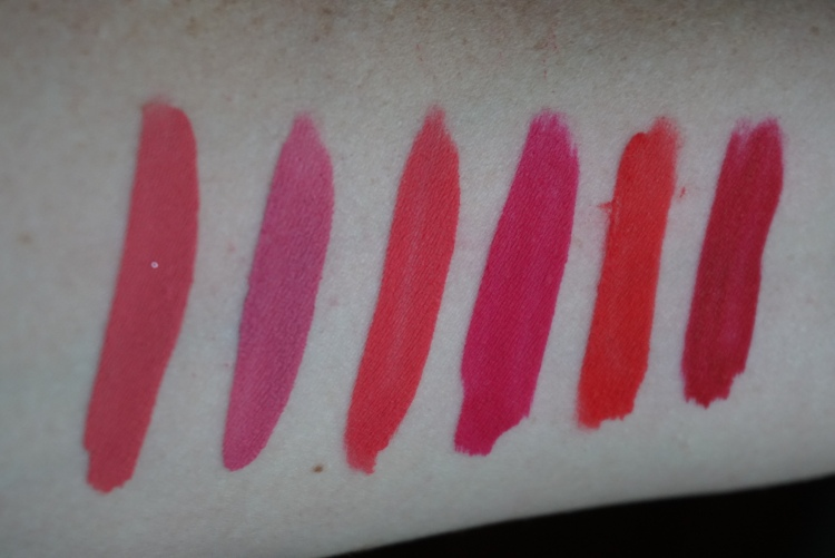 True Matte Finish - From Left to Right:From Donut, 1st Base, Ouiji, Mars, Succulent, Creeper