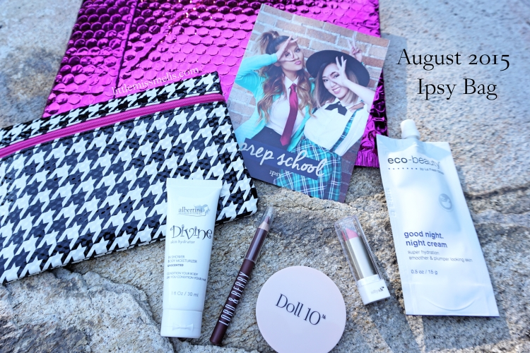 August 2015 Ipsy Bag